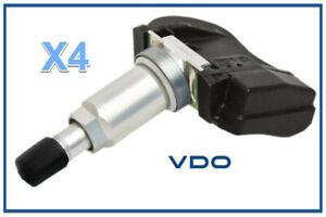4 VDO TPMS Kits REDI-Sensor Replace OEM # 06421SCV305 315 Mhz