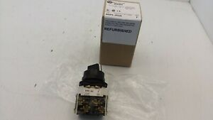 ALLEN BRADLEY 800H-JR2A SELECTOR SWITCH 3-POSITION MAINTAINED 1NO/1NC SERIES F