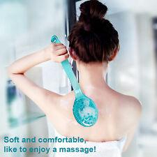 PIXNOR Handle Long Body Bath Shower Back Brush Exfoliating Skin Clean Scrubber