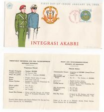 1968 INDONESIA First Day Cover INTEGRASI AKABRI + Information Sheet ARMED FORCES