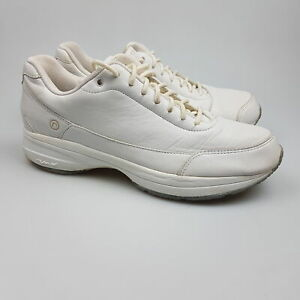 Women's ROCKPORT 'Walking' Sz 7 US Shoes White VGCon Leather | 3+ Extra 10% Off