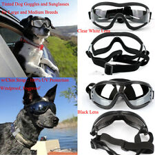 2 kind Dog Sunglasses Goggles Adjustable Strap Anti-Fog for Medium to Large Dogs