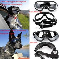 2 kind Dog Sunglasses Goggles Adjustable Strap Anti-Fog for Medium to Large Dogs