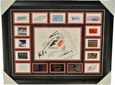 F1 Canvas Frame Signed by 23 F1 World Champion Ayrton Senna Schumacher Lauda