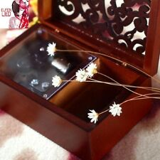 Rectangle Wood Carving Jewelry  Wind Up Music Box : Elfen Lied - Lilium