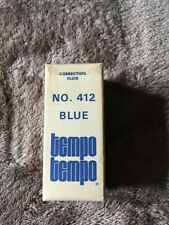 Vintage Office Supplies Tempo Correction Fluid in Box