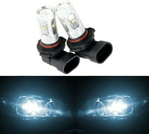 LED 30W 9006 HB4 White 6000K Two Bulbs Fog Light Lamp Plug Play Replace OE