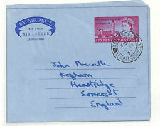 Ac9 1957 Gb Parliamentary Conference Airletter *Henstridge* Fdc First Day Cover