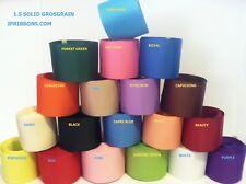 1.5 GROSGRAIN RIBBON- 19 COLORS- 5 YARDS
