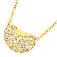 Auth Tiffany & Co. Beans Diamond Necklace 750(18K) Yellow Gold