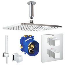 Grohe & Ideal Standard Cube Thermostat Unterputz Duschsystem, 300 mm Kopfbrause