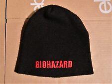 BIOHAZARD RARE BLACK EMBROIDERED CLASSIC ORANGE LOGO BEANIE/HAT UNWORN NYHC
