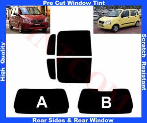 Suzuki Wagon R+ 5D 2000-2008 Pre-Cut Window Tint 5%-50% Rear Window & Rear Sides
