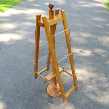 """Vintage Abercrombie & Fitch Retail Wood Display Stand Tiered Rack 49"""" Height"""