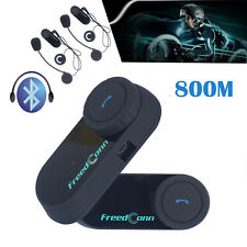 800M Motorcycle BT Intercom Interphone Voice Bluetooth Headset Motorbike Helmet