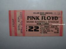 PINK FLOYD 1977 Concert Ticket Stub MIAMI FL BASEBALL STADIUM Animals MEGA RARE