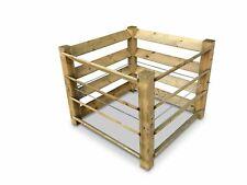 Eco Komposter Brettkomposter aus Holz 100x100x80 cm - ca. 650 L
