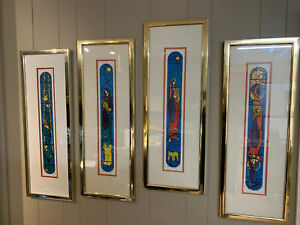 Nissan Engel Signed Numbered Lithographs Stained Glass Windows Hebrew Chapel