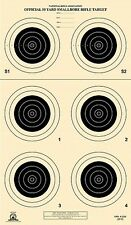 A-23/6 [A23/6] NRA Official 50 Yard Smallbore Rifle Target, on Tagboard (22)