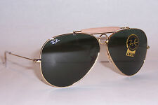 NEW RAY BAN Sunglasses AVIATOR SHOOTER 3138 001 GOLD/GREEN 62mm AUTHENTIC