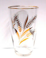 LIBBEY GOLDEN WHEAT GLASSES (SET OF 6) 10 Oz VINTAGE DRINKING GLASS ~ VGUC