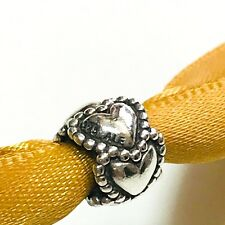 Pandora Dotted Hearts Charm Everlasting Love 925 Sterling Silver 790448 Retired