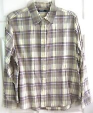 RALPH LAUREN Size XL Beige/Taupe Purple Plaid Shirt Long Slvs NWT! MSRP $89!