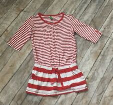 United Colors of Benetton red & white striped summer dress size 2