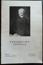 1957 Tchaikovsky Festival Concert Programme, ROSTROPOVITCH, EMIL GILELS Ephemera