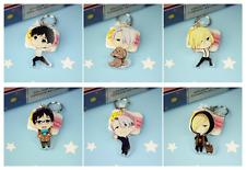 6pcs/set  New Anime Yuri!!! on Ice Nikiforov Victor Dakimakura keychain