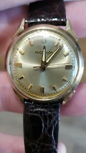 1967 Accutron gold Filled Accutron 214 clean Dial running strong keeps time