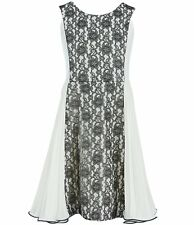 Bonnie Jean Girl's Color Block-Lace Paneled Scuba Fit-and-Flare Dress Size 8