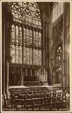 York England ~1920/30 inner view Ladye Chapel and east window Tuck`s Postcard