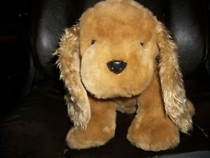 "Adorable First & Main Plush Long Ears Dog Named Ginger Brown 11"" inches Sitting"