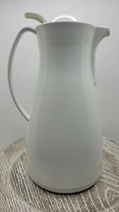 PAMPERED CHEF Carafe LEIFHEIT Thermal Hot Cold Coffee Tea Pitcher 1L 33oz White
