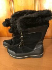 Merona Women's Winter Snow Faux Fur Boots Size 11 Leather And Synthetic Upper