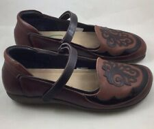 Naot Motu Luggage Brown Leather Mary Janes US Women's Size 10/EUR 41 Israel