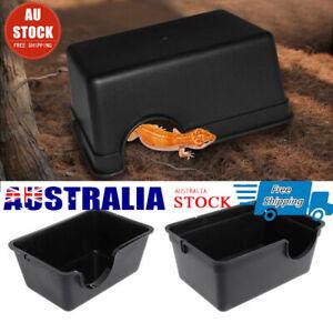 Easy Clean Plastic Box Hide Reptile Snake Tortoise Snake Lizard Pet Water Bowl