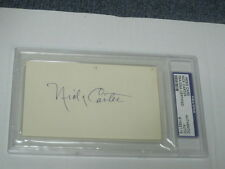 Paul Nick Carter Index Card PSA Certified Encapsualted