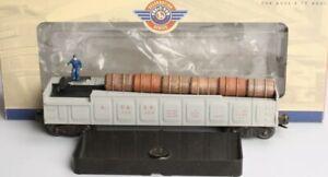 ✅LIONEL OPERATING SANTA FE BARREL RAMP CAR  6-19877! PWC POSTWAR CELEBRATION