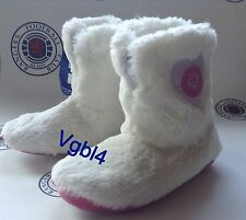 Glasgow Rangers Girls Fluffy Slipper Boots BNWT Scotland Size 12-13