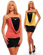 Women's Viscose Bandeau Stretch, Bodycon Short/Mini Dresses