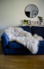 Sheepskin Rug light Cappuccino Icelandic 100% Sheep Skin