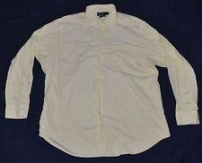 Polo Ralph Lauren Button Front Dress Shirt 17 34/35 CURHAM Yellow Men's XL
