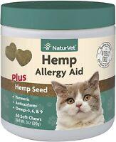 NaturVet Hemp Quiet Moments Plus Hemp Seed Soft Chews for Cats ☆ Regulates pain