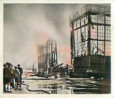N°168 Fire The glass palace in munich burnt through Germany 1931 IMAGE CARD 30s
