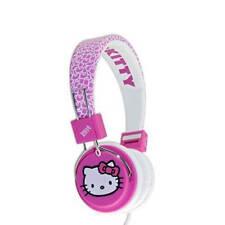 Hello Kitty pliant Sur-Oreille Casque-Magnifique rose et blanc design Fuzzy Bow