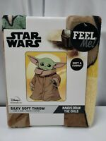 Baby Yoda The Child Throw 40 x 50. Disney Star Wars Mandalorian Silky Super Soft