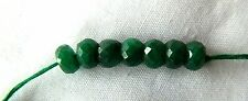 Emerald, Sparkly, Good Quality Faceted Rondelles, 5.5-6mm x 4mm, Bag Of 7 Beads
