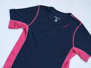 Devold Sport MERINO Wool Tee T shirt women Short Sleeve top size XS UK 6 black